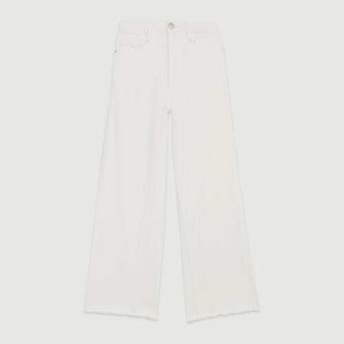 Weite hoch-geschnittene Jeans : Hosen & Jeans farbe Weiss