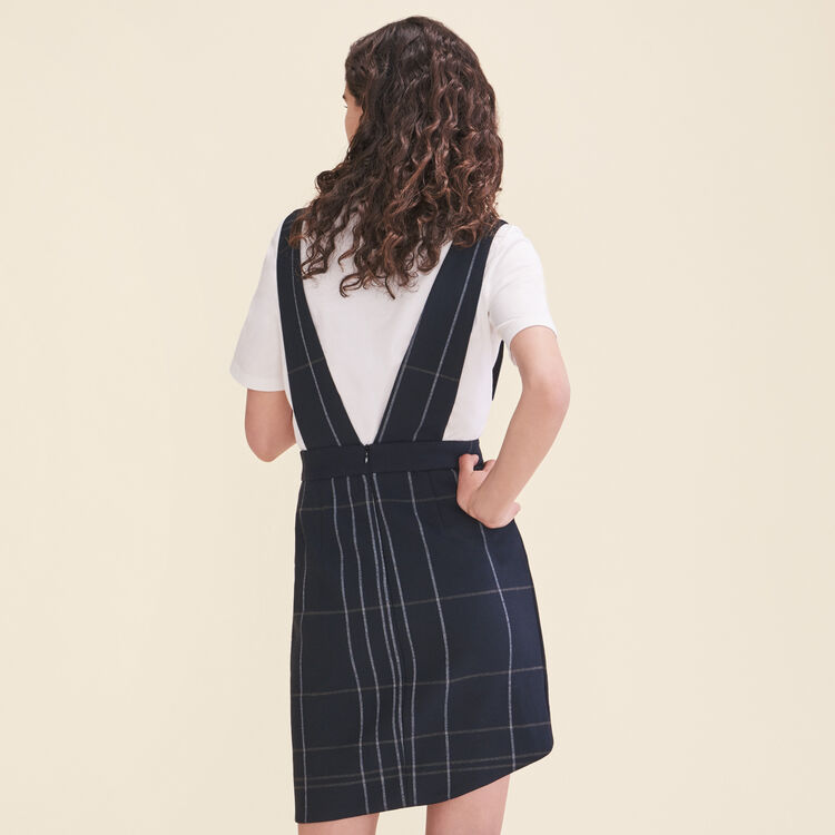 Tartan-Trägerrock : Jupes & Shorts farbe Marineblau
