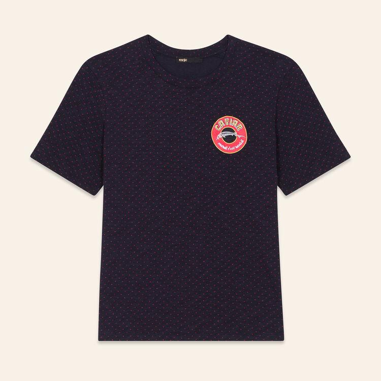 T-Shirt mit Stickerei Dienstag : T-shirts farbe Marineblau