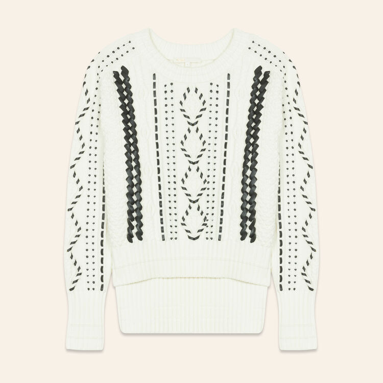 Pullover aus Zopfstrick : Pulls & Cardigans farbe Ecru