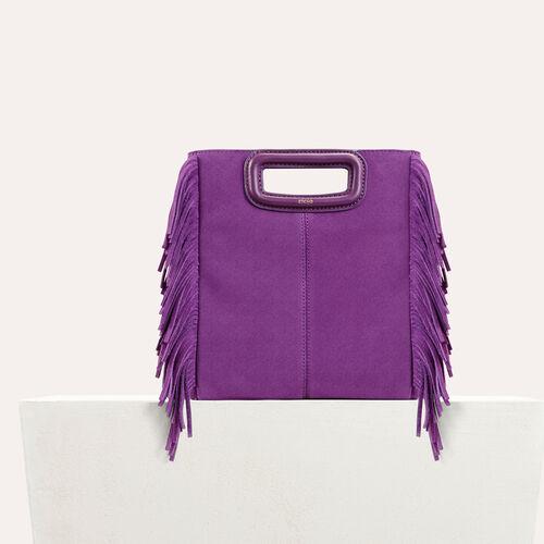 M Tasche aus Veloursleder : Tout voir farbe Violett