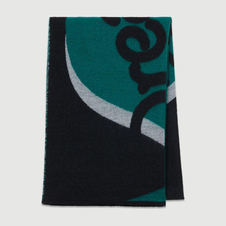 Bedruckter Kaschmir-Schal : Neue Kollektion farbe Schwarz
