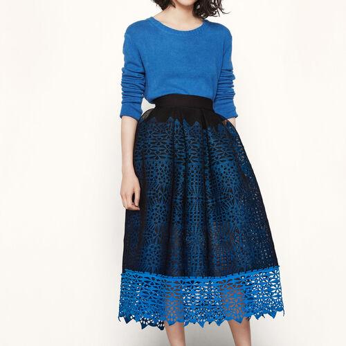 Rock aus Strick mit Wabenmotiv : Röcke und Shorts farbe Blau
