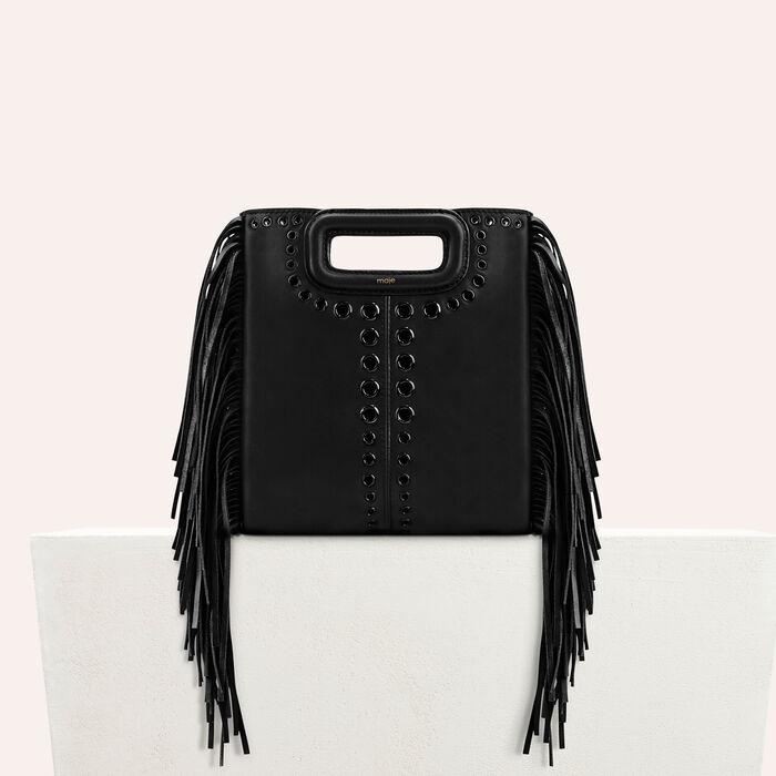 M Tasche aus Leder mit Fransen : Kollektion farbe