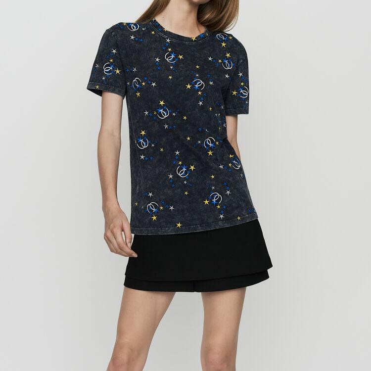Verwaschenes Baumwoll-T-Shirt : T-Shirts farbe Grau