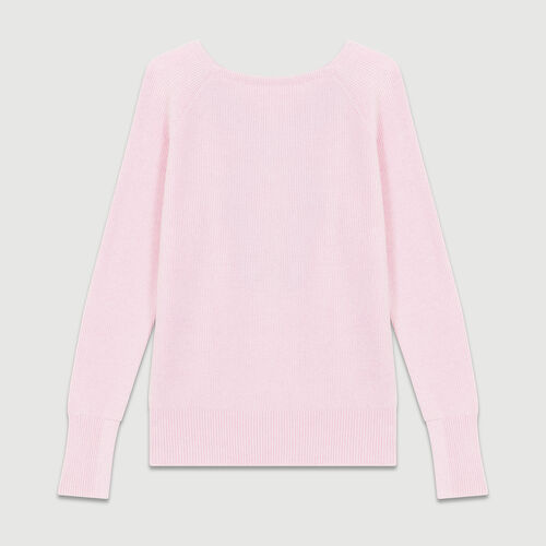 Pullover mit gekreuzten : Strickwaren farbe LILA