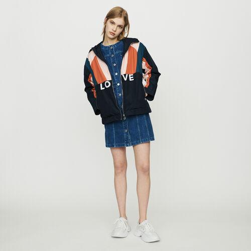 Bunte Windjacke : Jacken farbe Marineblau