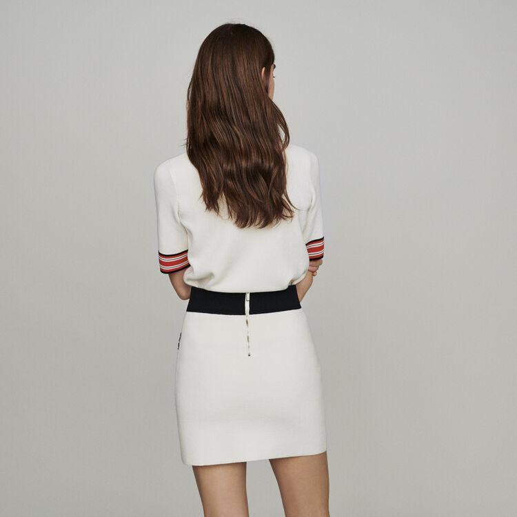 Kurzer Rock aus dichtem Strick : Röcke & Shorts farbe ECRU