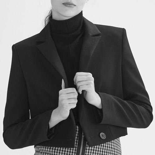 Kurze jacke : Blousons & Vestes farbe Schwarz