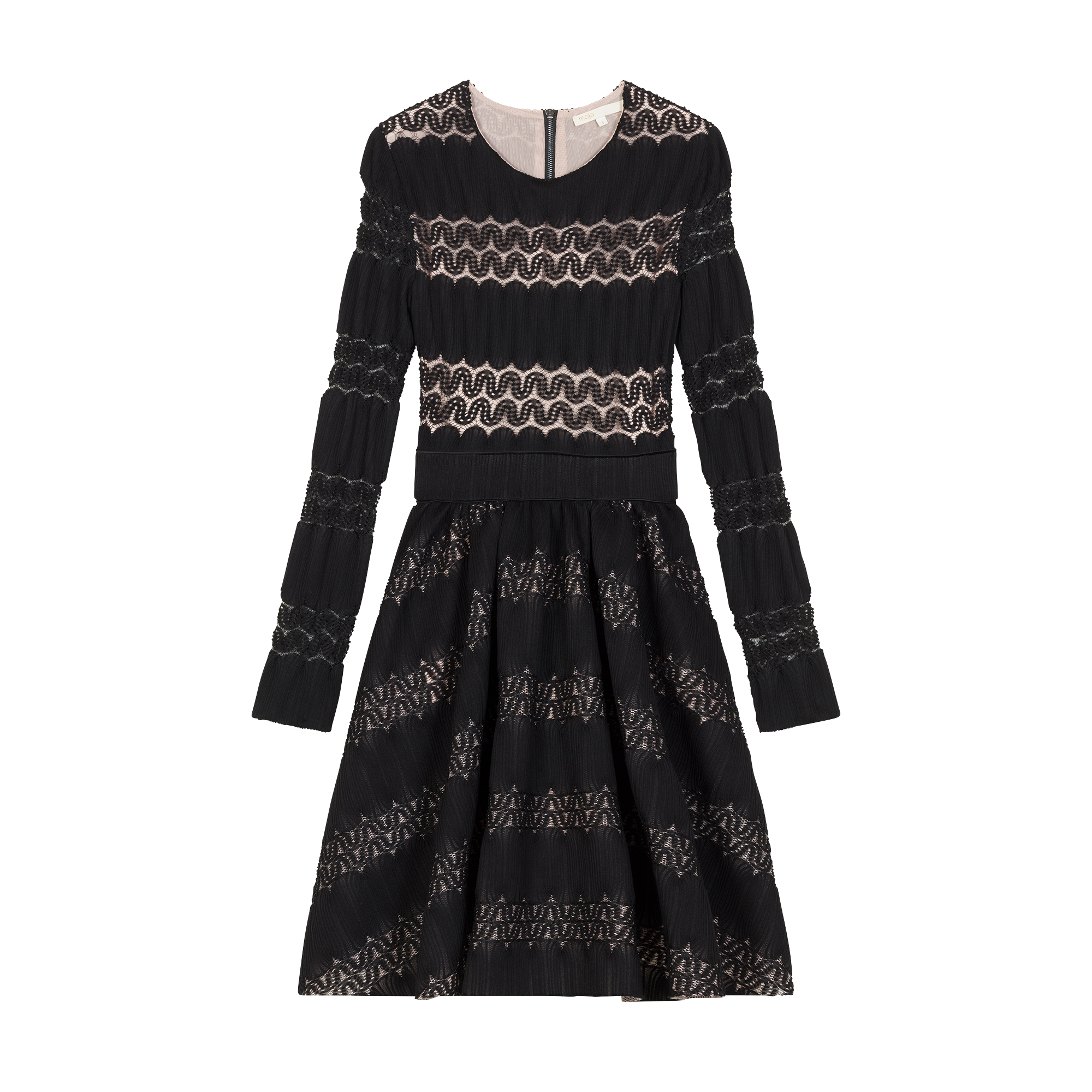 Basket knitted dress - Kleider - MAJE