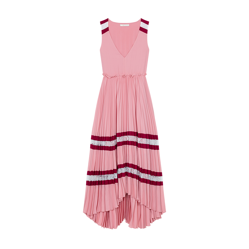 Long pleated dress - Kleider - MAJE