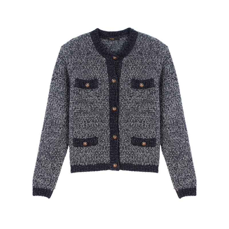 Strick Cardigan aus Lurex - Winter Kollektion - MAJE