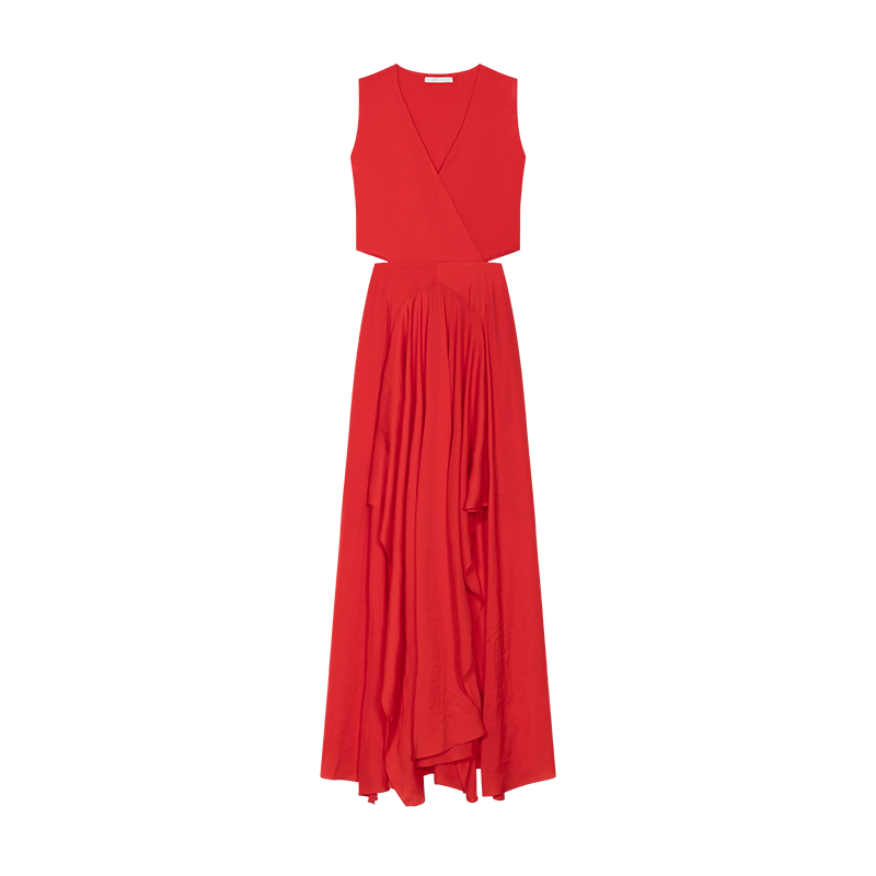 Maxi dress with flounce detail - Kleider - MAJE